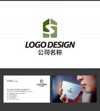 S字母LOGO标志设计 AI