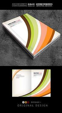 彩虹形状色块封面设计