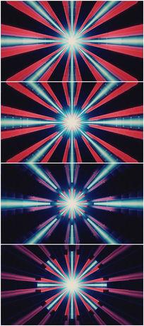 红蓝光线扩散放大vj视频素材 mov