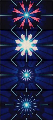 蓝色光线扩散放大vj视频素材