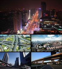 城市交通车流情况实拍视频素材