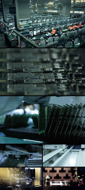电子主板电路芯片生产制造视频 mov
