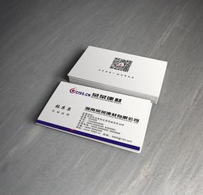 蓝色建材科技名片
