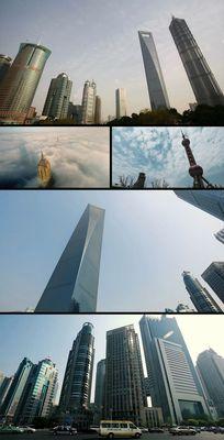 上海浦东陆家嘴标志建筑一览视频