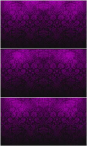 紫色花纹背景视频素材