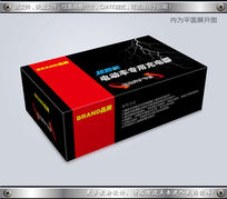 黑红色搭配电动车充电器包装模板