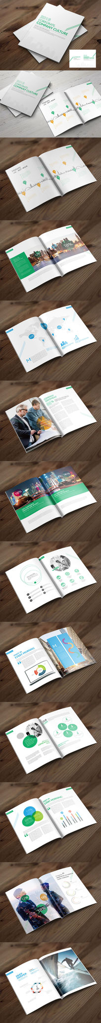 时尚简洁企业文化画册