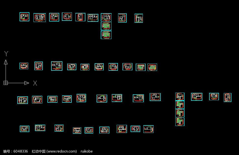 CAD图纸室内平面图原始图家装素材下载_家装一层集装箱房屋设计图图片