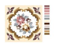传统床上用品沙发垫花图案eps素材