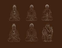 佛菩萨线描稿