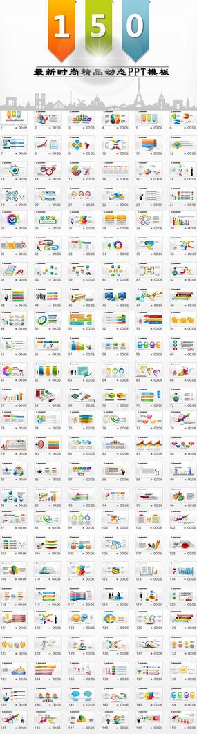 简约时尚可视化图表数据分析总结ppt模板 ppt