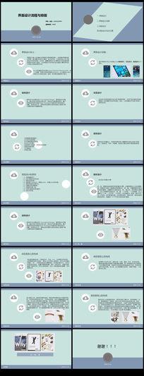 界面设计流程与排版调研总结报告汇报PPT模板