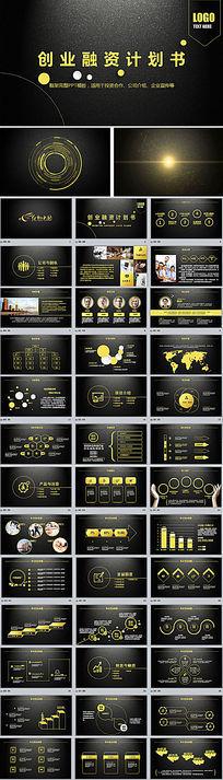 欧式奢华企业宣传文化创业融资计划书PPT模板