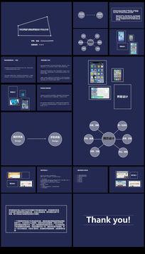 手机界面与网站界面设计对比分析调研报告汇报PPT