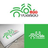 元谷食品自字体LOGO设计