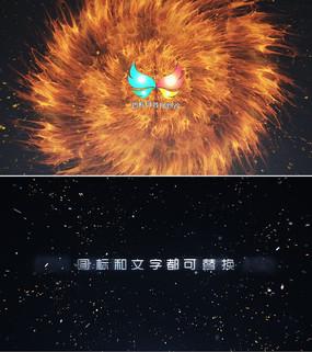 震撼粒子冲击logo标志片头ae模板