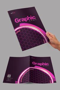 紫色创意球拍封面