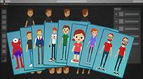 卡通二维人物动画讲解产品宣传ae模板