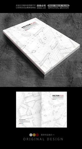 手绘建筑图纸封面