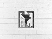提案贴图肌理墙面标志展示logo效果图
