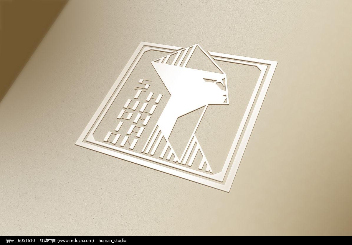 提案贴图立体标志展示logo效果图图片