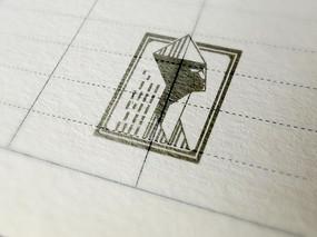 提案贴图手绘效果标志展示logo效果图