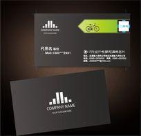 自行车名片黑色名片