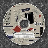 报纸背景古典CD设计 PSD