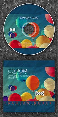 彩色气球可爱cd封面设计