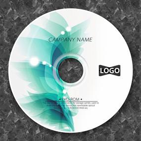 淡绿色梦幻花瓣CD设计