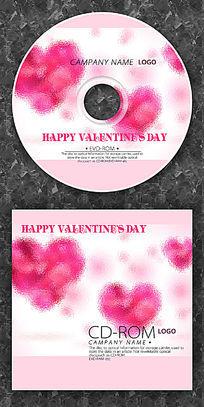粉红心形婚庆情人节CD光盘
