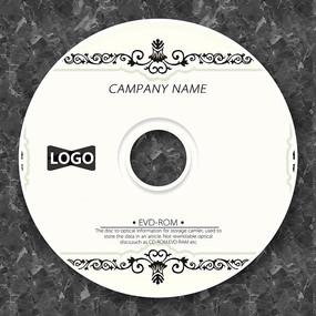 复古黑色欧式花纹光盘设计