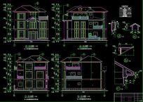 豪华私人别墅cad设计图纸下载