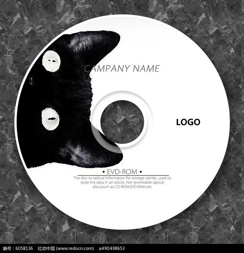 黑色小猫新颖时尚光盘设计图片