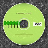 环保绿色小树林cd封面设计