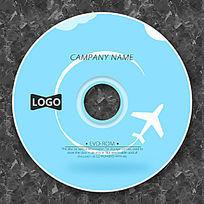 卡通飞机飞翔可爱CD设计