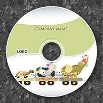 可爱卡通动物小孩CD设计