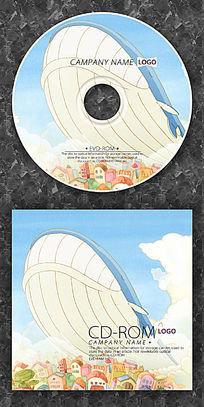 可爱卡通鲸鱼cd光盘设计