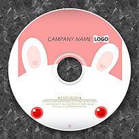 可爱小动物兔子cd封面设计