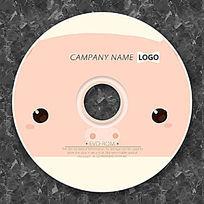 可爱小猪卡通CD光盘设计