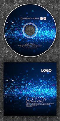 科技蓝色圆点酷炫cd设计