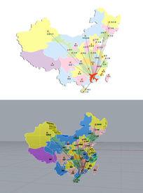 中国3d地图