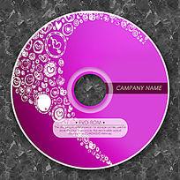白色心形涂鸦可爱CD光盘设计