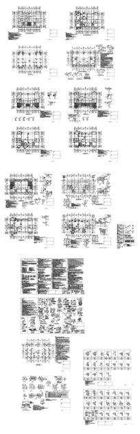 别墅建筑配筋结构图 dwg