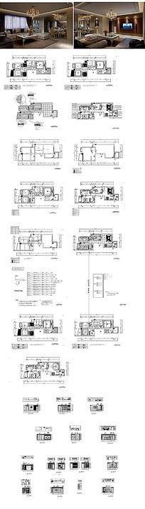 别墅施工CAD图纸 dwg