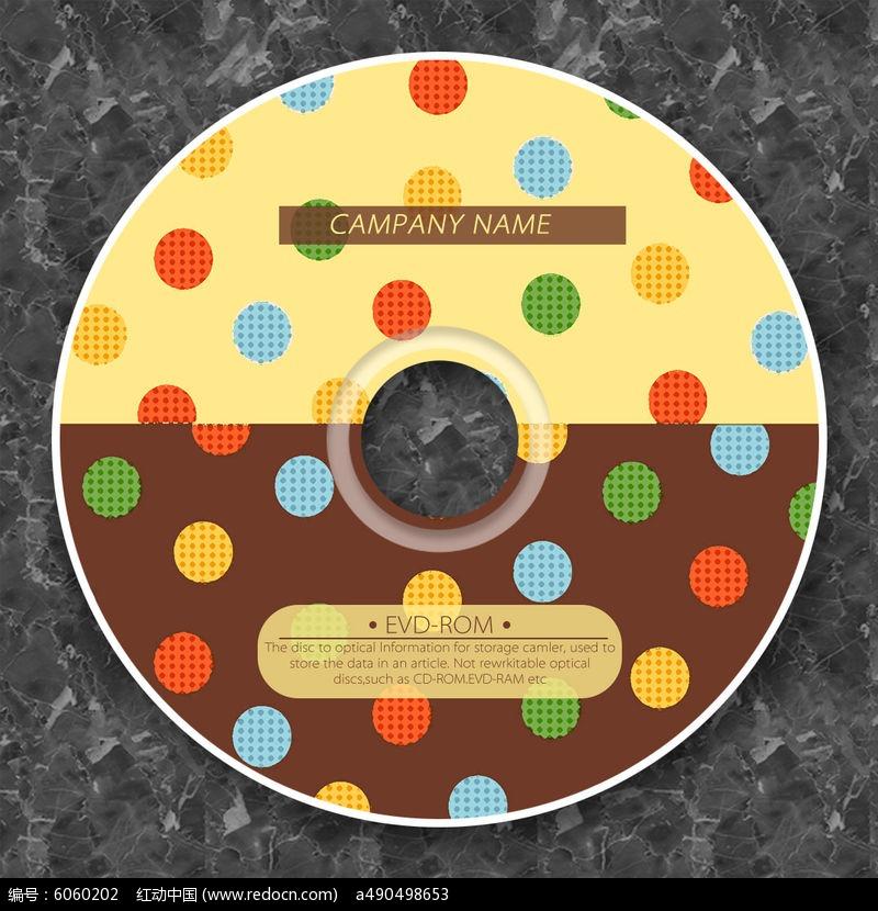 彩色巧克力糖果光盘设计图片