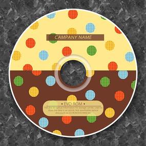 彩色巧克力糖果光盘设计 PSD