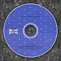 淡蓝色简洁CD光盘设计