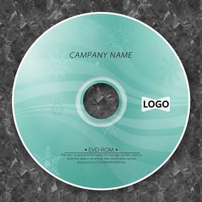 淡绿色曲线唯美CD光盘