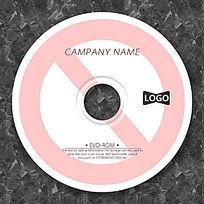 粉色禁止标志时尚光盘设计